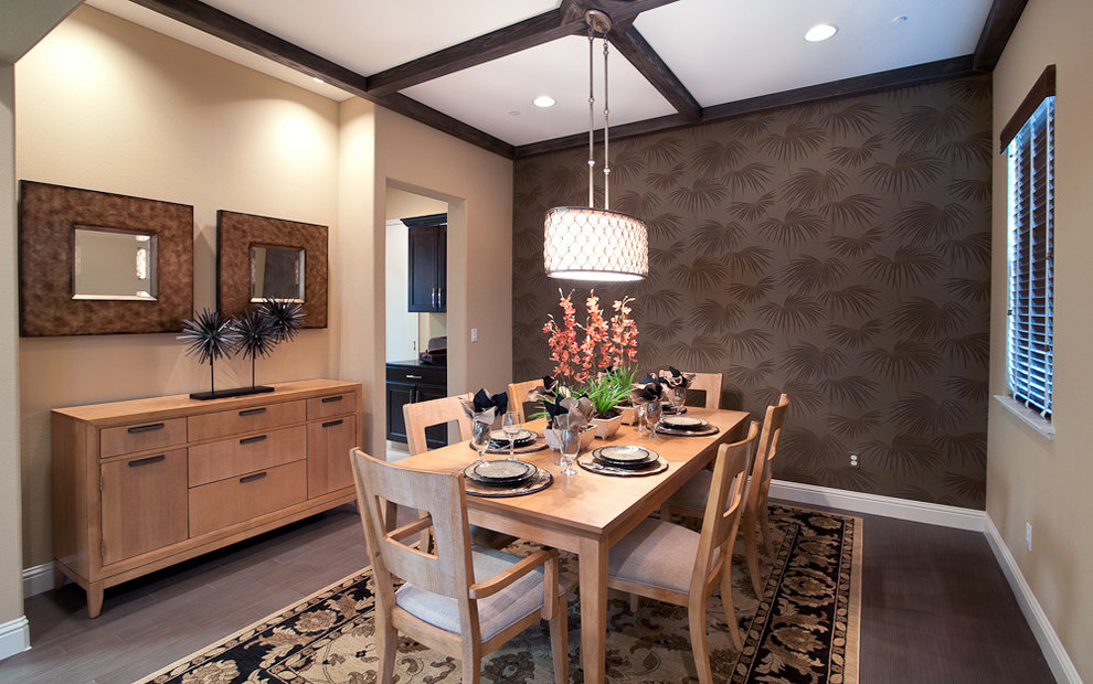 Cozy Dining Room With Modern Lighting (Image 6 of 19)