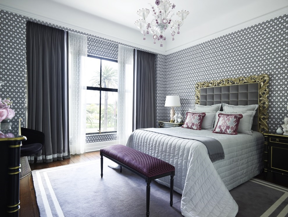 Black White Bedroom in Classic Style