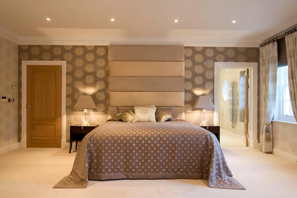 Brown Bedroom Interior Color for Elegance Nuance
