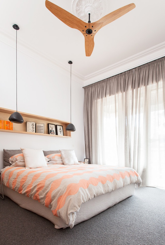 Soft Color for Contemporary Bedroom Interior