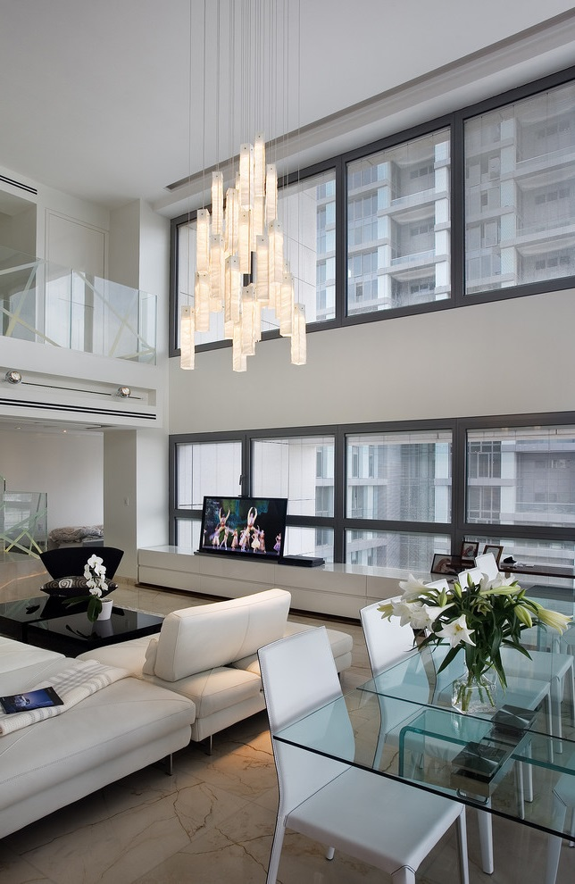 Awesome Modern Apartment Living Room And Dining Room For (View 7 of 10)