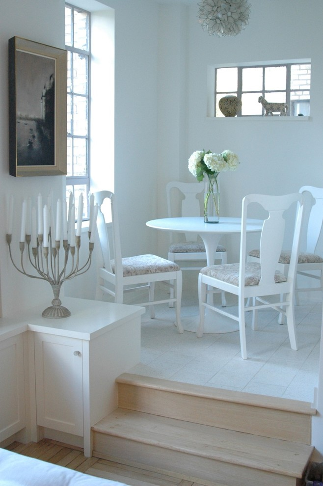 Simple Romantic Dining Room With A Vase Of Flowers And Candles (Image 9 of 9)
