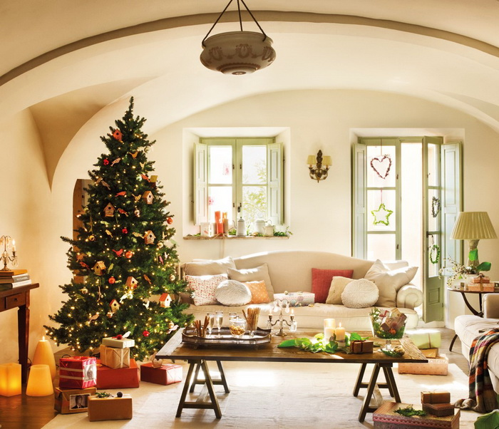 American Style Christmas Living Room