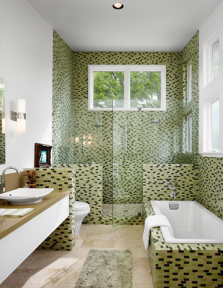 2016 Green Bathroom Design Plan (Image 1 of 9)