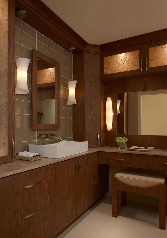 2016 Modern Corner Wooden Bathroom Sink (Image 1 of 12)