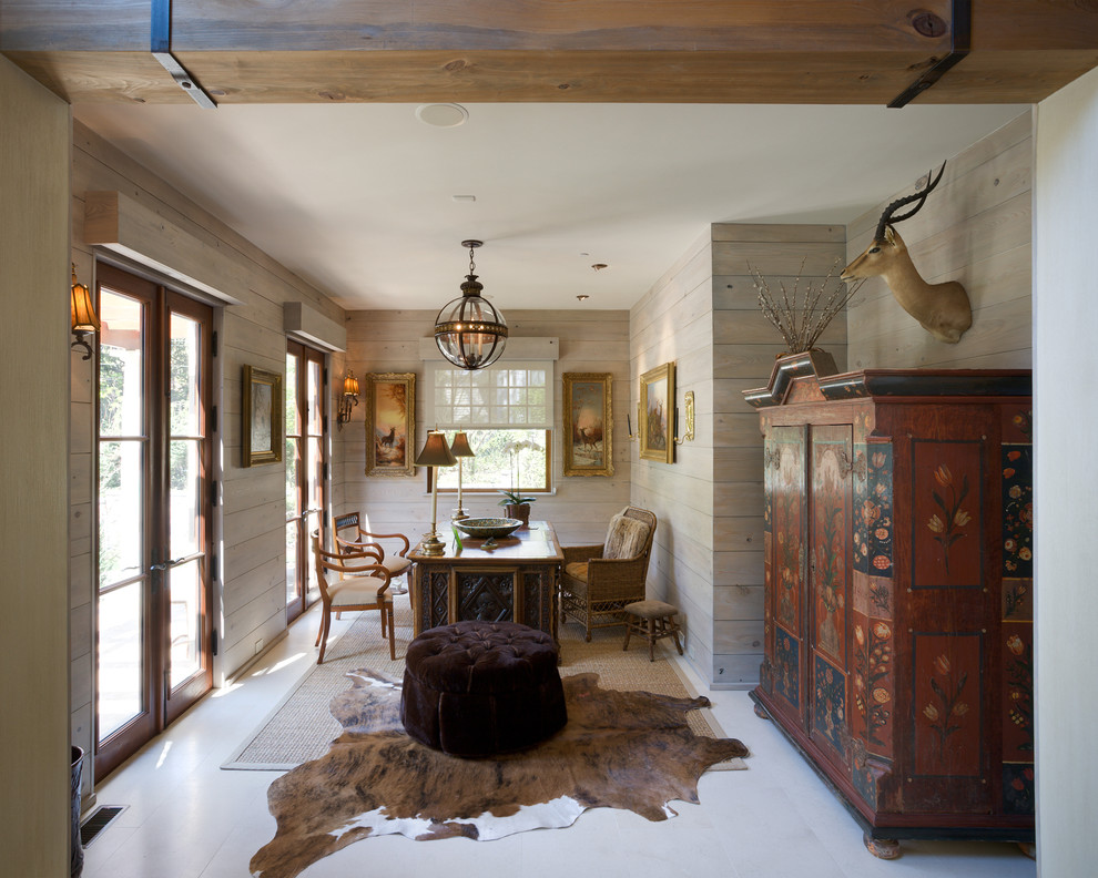 Amazing Classic Home Office with Rug Animal Print Accents