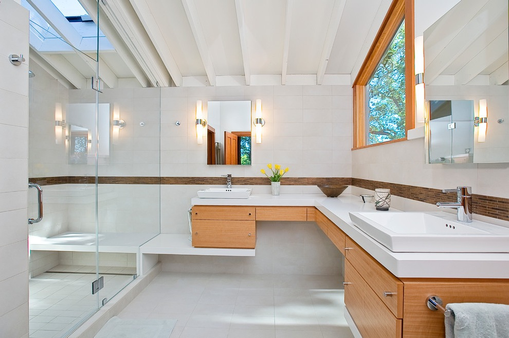 Contemporary Corner Bathroom Sink for Modern Bathroom
