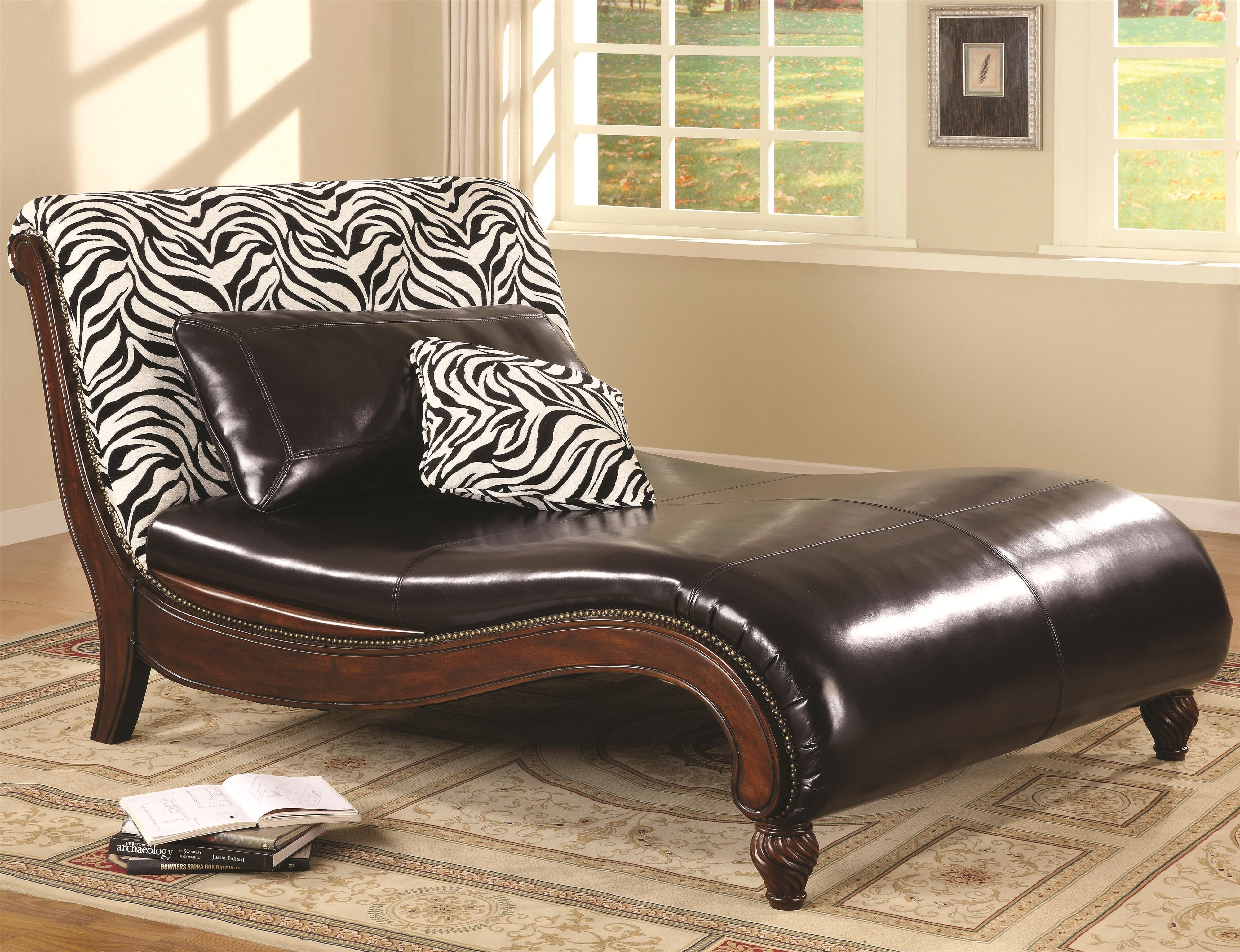 Elegant Sleigh Lounge Beds Animal Print Accents (Image 7 of 12)