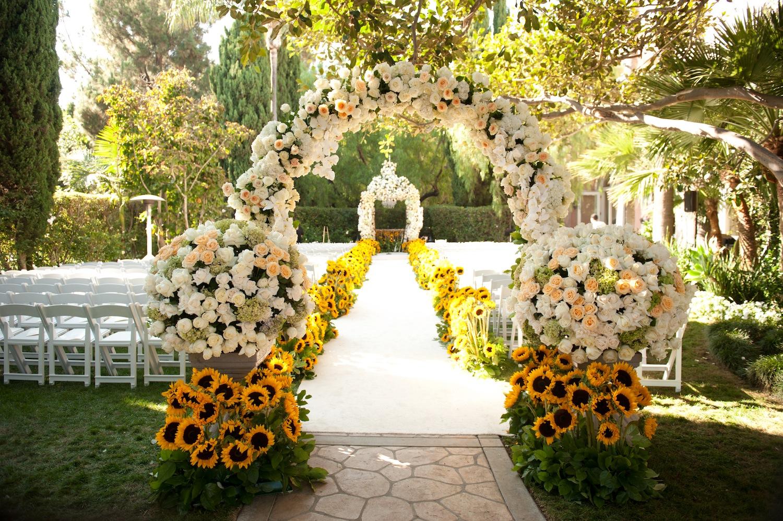 Sparkling outdoor evening wedding decorations custom home design garden wedding ceremony decor image 3 of 15 junglespirit Images