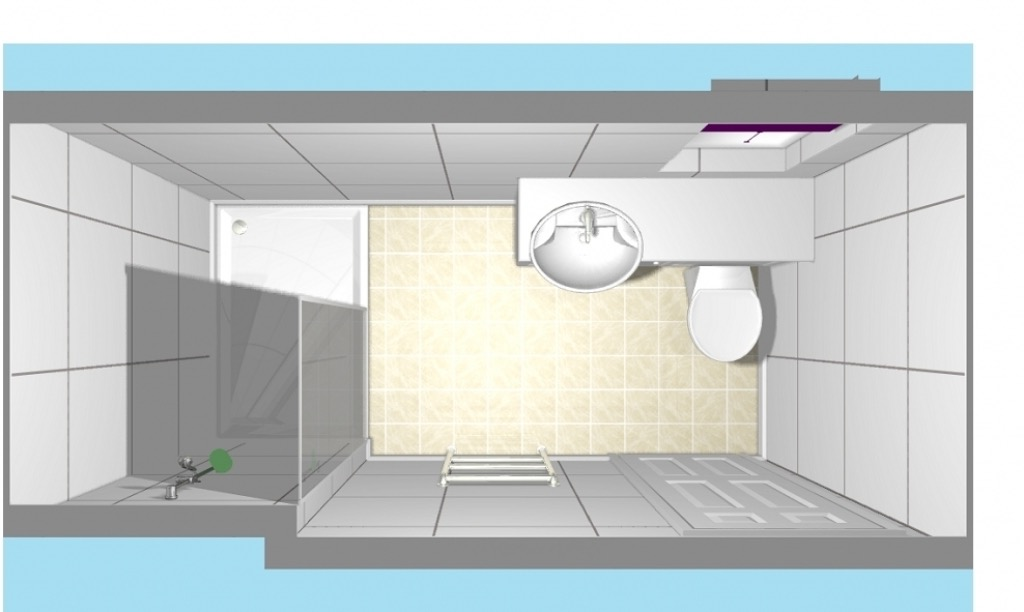 Top View Minimalist Bathroom And Toilet Layout Plans (Image 9 of 9)