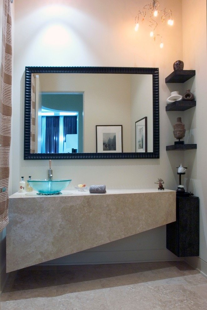 Unique Design for Modern Corner Bathroom Sink