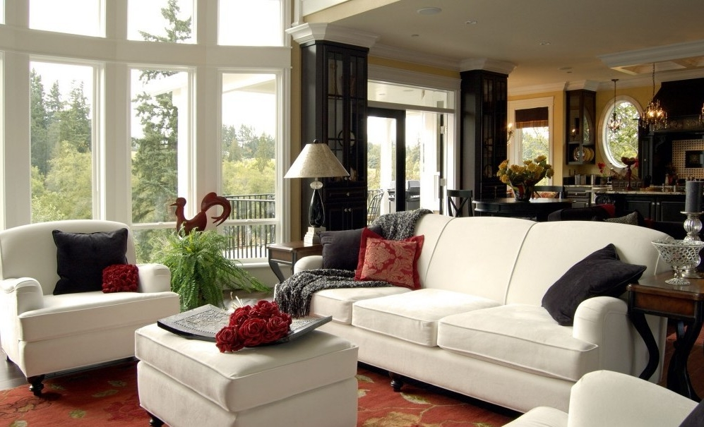 Amazing Double Height Windows And Classic Contemporary Living Room ...