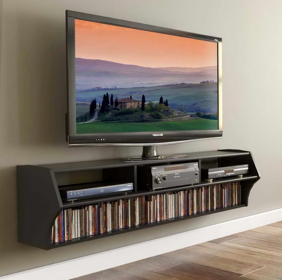 Cool Narrow Wall Mounted Tv Stand With Horizontal Dvd