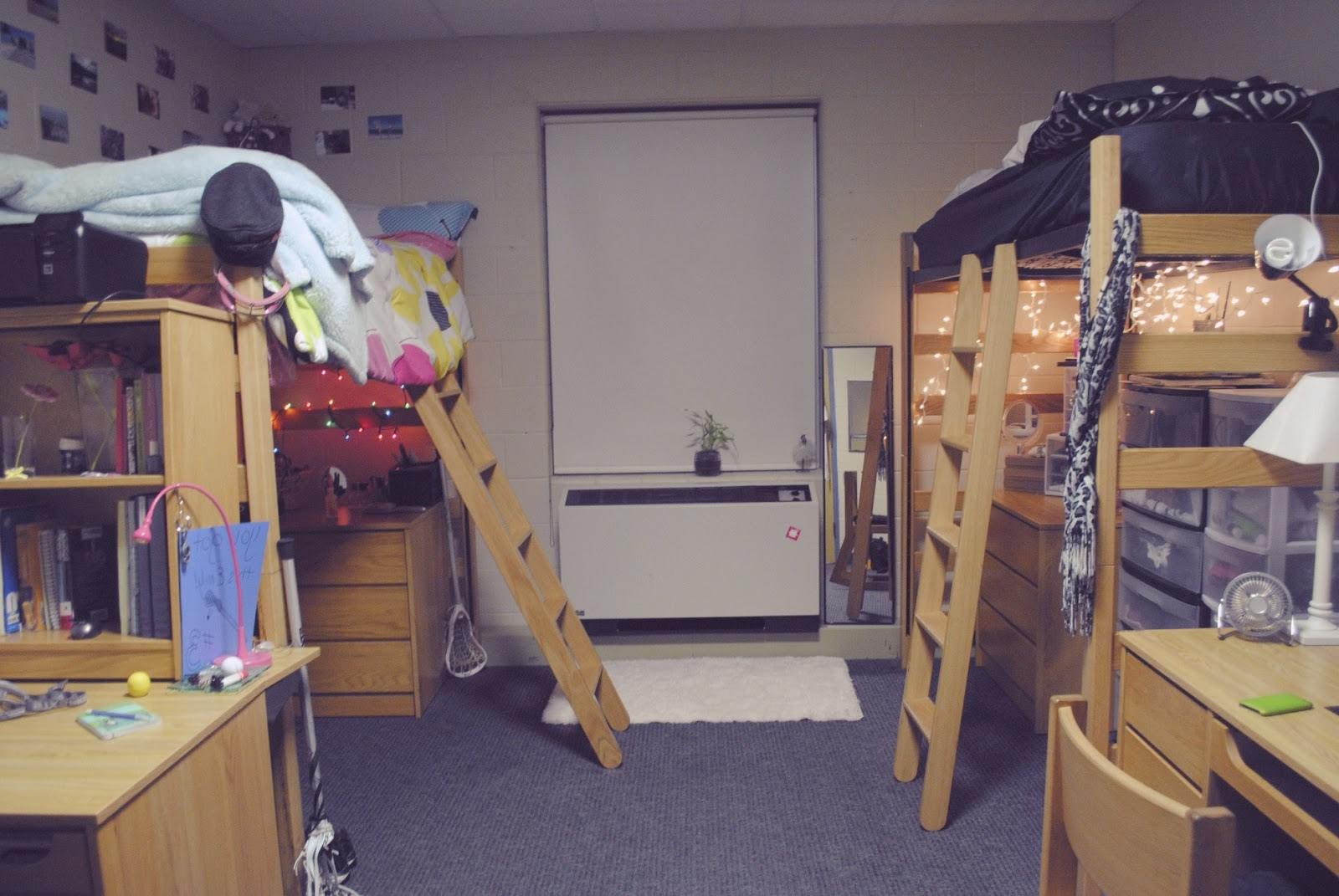 Dorm room loft bed ideas for Dorm bathroom ideas