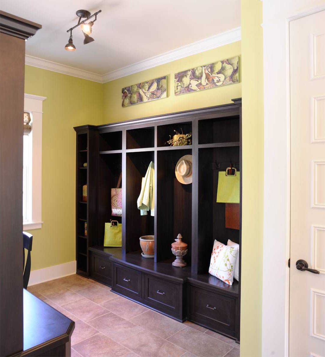 gothic black mudroom cabinet with hidden storages plus mini track  - gothic black mudroom cabinet with hidden storages plus mini track lightingalso yellow wall paint color