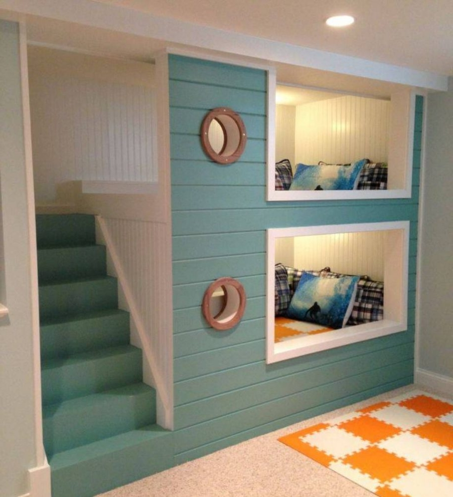 Inspiring orange puzzle rug pattern with turquoise built in bunk inspiring orange puzzle rug pattern with turquoise built in bunk bed plus white recessed lighting also amipublicfo Image collections