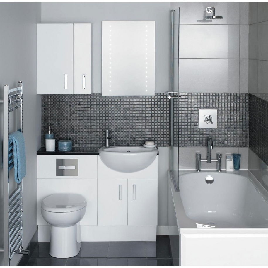 Modern Bathroom Shower Ideas Mixed With White Storage Furniture And ...