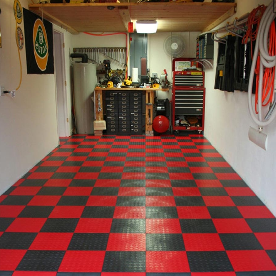 Pleasing square fluorescent light with decorative storages also pleasing square fluorescent light with decorative storages also red checkered garage floor tile also white wall dailygadgetfo Image collections