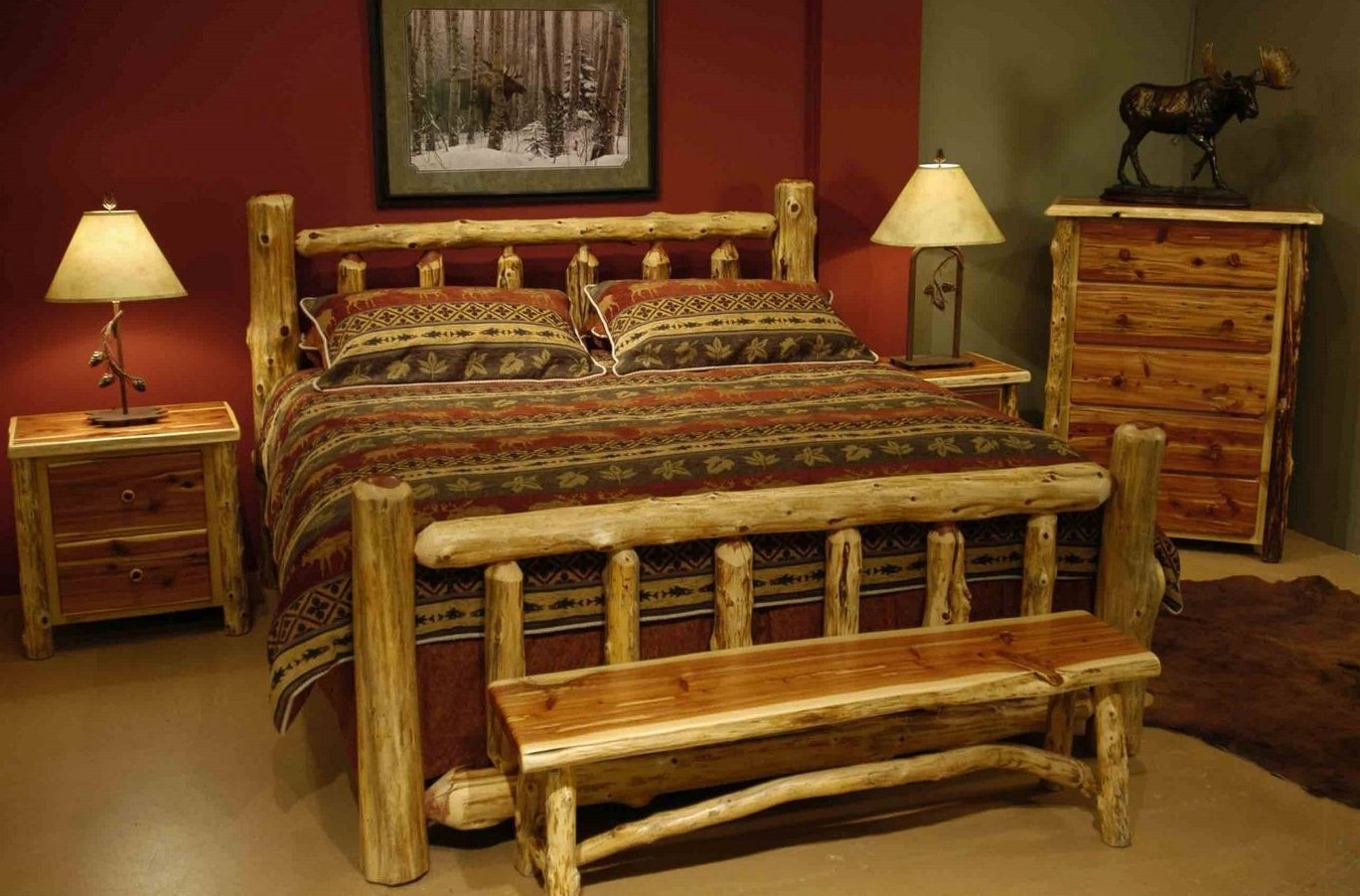 Quirky Bedroom Furniture Bedroom Furniture Design Feat Animal Rustic Print Bedding Idea