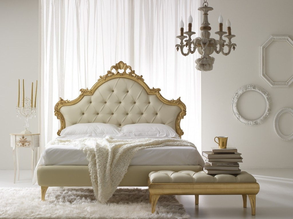 Tufted Headboard With Gold Plated Frame Idea Feat Classic