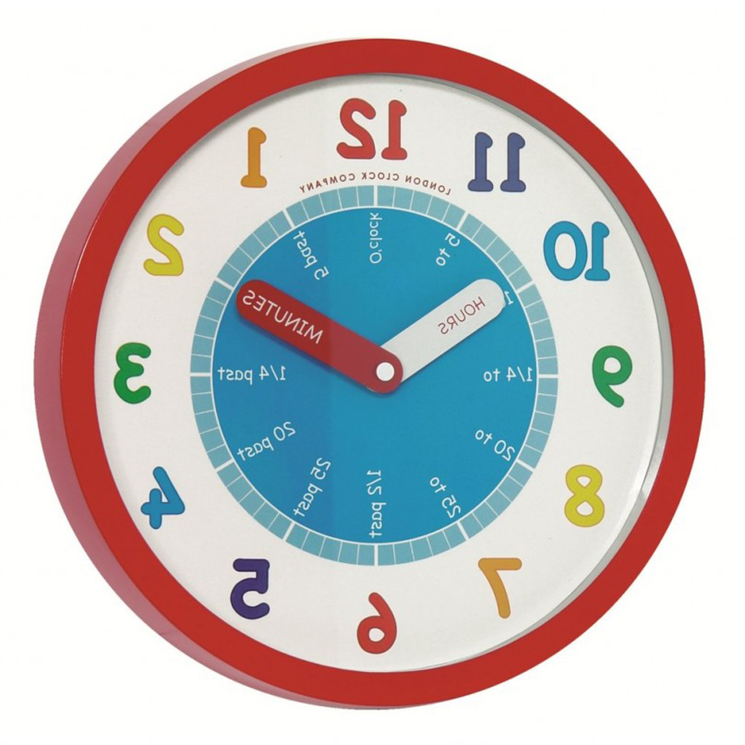 Kids Bedroom Simple And Colorful Children Wall Clock With Round Shape Design Fetching Wall Decoration In Kid Bedroom Using Children And Kid Clocks (Image 20 of 28)