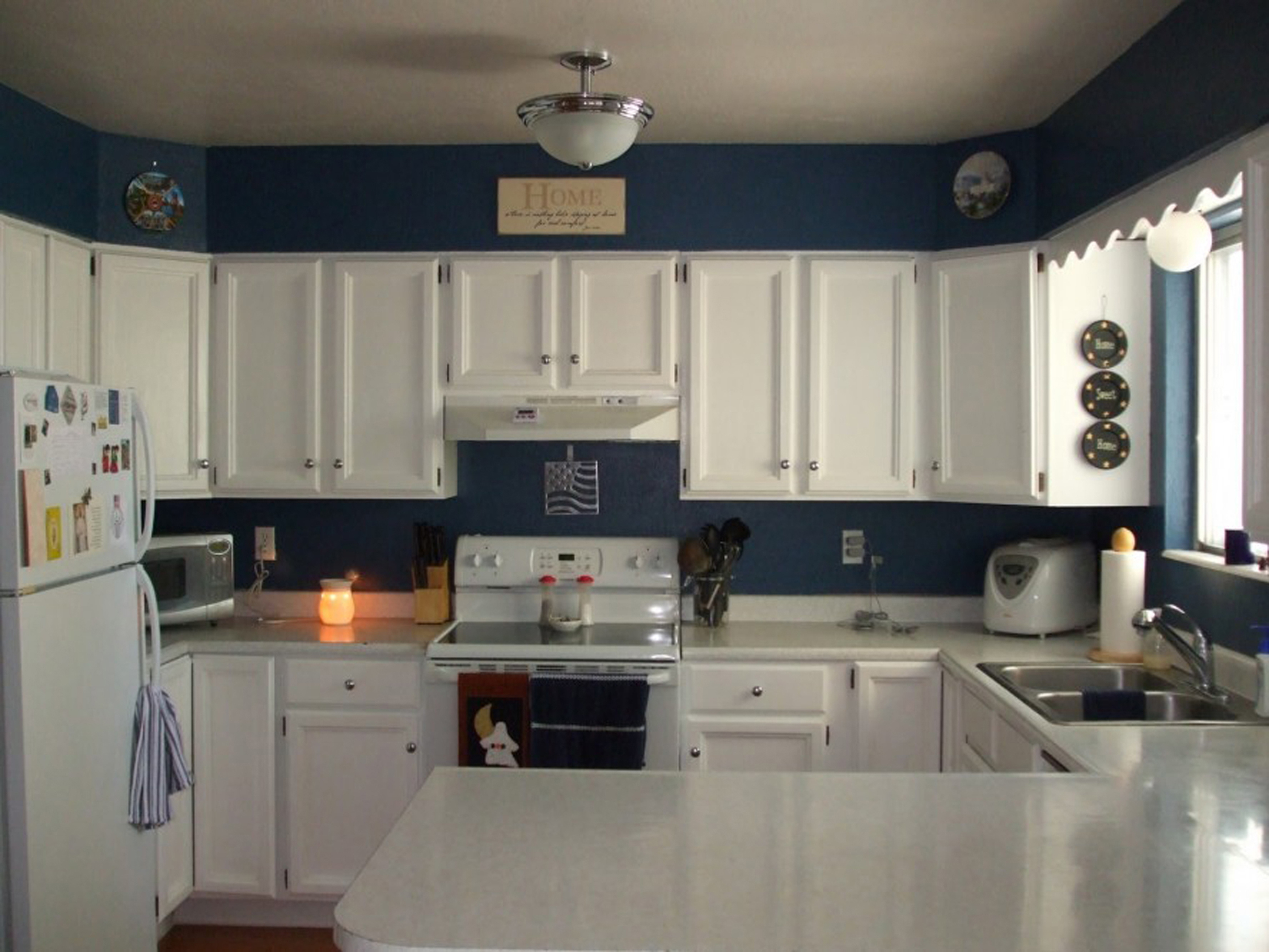 Kitchen Design Colors With White Cabinets With Elegance Plan (View 28 of 31)