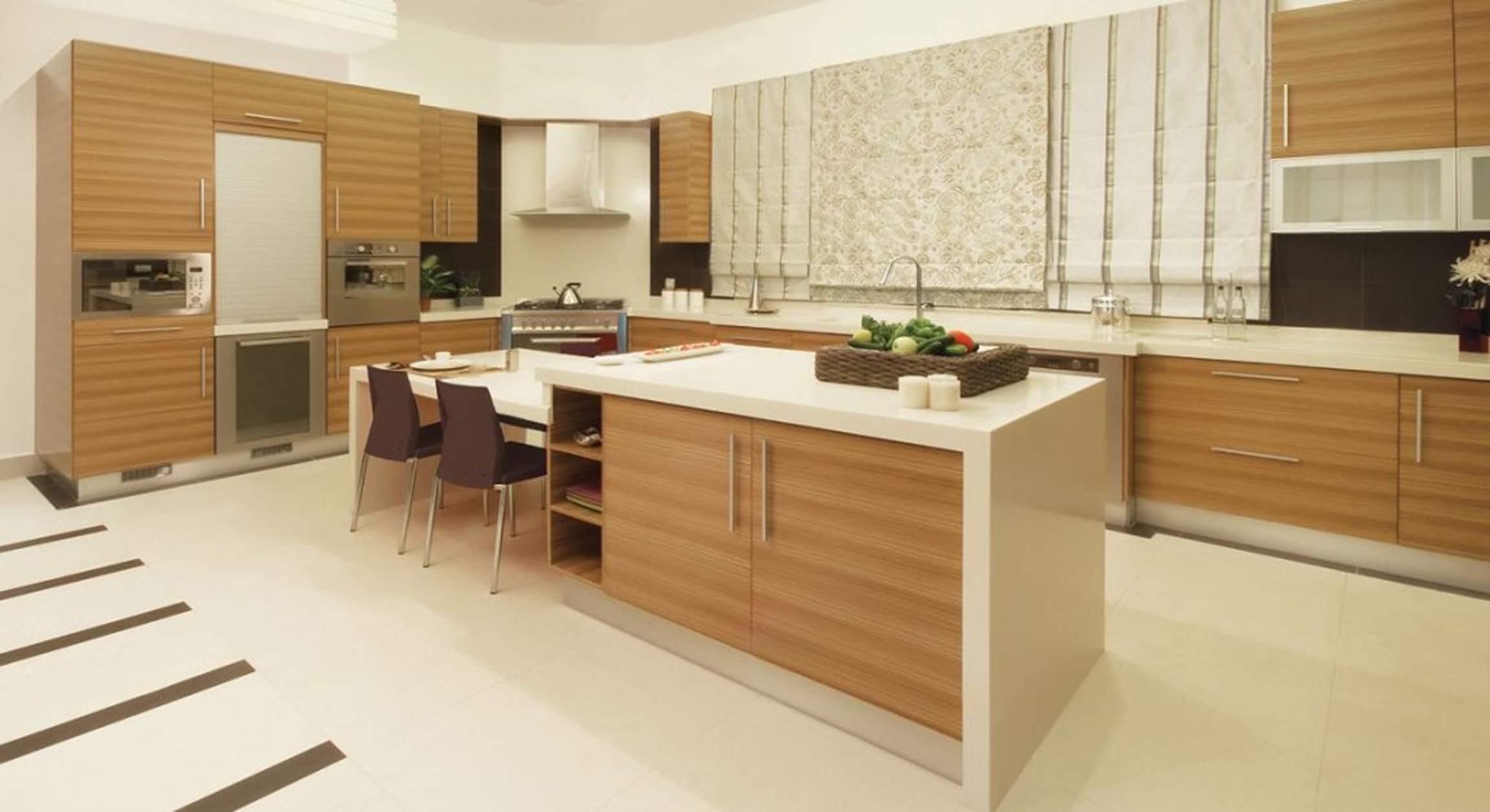 Kitchen Design With Brown Cabinets Cupboards With Sweet Concept (View 3 of 31)