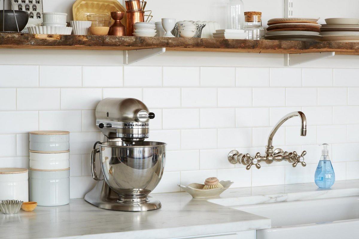Kitchen Appliance Bundle Packages White Backsplash Glass Tile Kitchen Wall Hardwood Shelf Stainless Steel Mixer Elegant Kitchen Faucet White Porcelain Kitchen Sink Soap Towel Hanger Spice (Image 3 of 38)