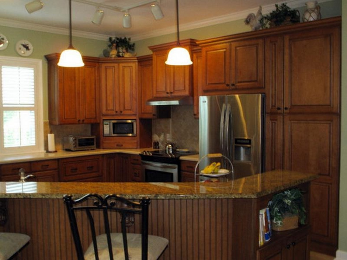 Kitchen Appliance Package Deals Lowes Spotlight Decorative Hanging Lamp Kitchen Cabinet With Breakfast Counter And Seating Kitchen Appliance Packages Lowes Kettle Fridge Freezer Oven (Image 7 of 38)