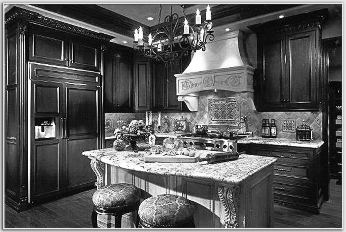 Kitchen Appliance Packages Canada Rustic Kitchen Island Classic Chadelier Lamp White Distressed Cabinet Marble Countertop Kitchen Island With Seating Brown Kitchen Cabinet Backsplash (Image 9 of 38)