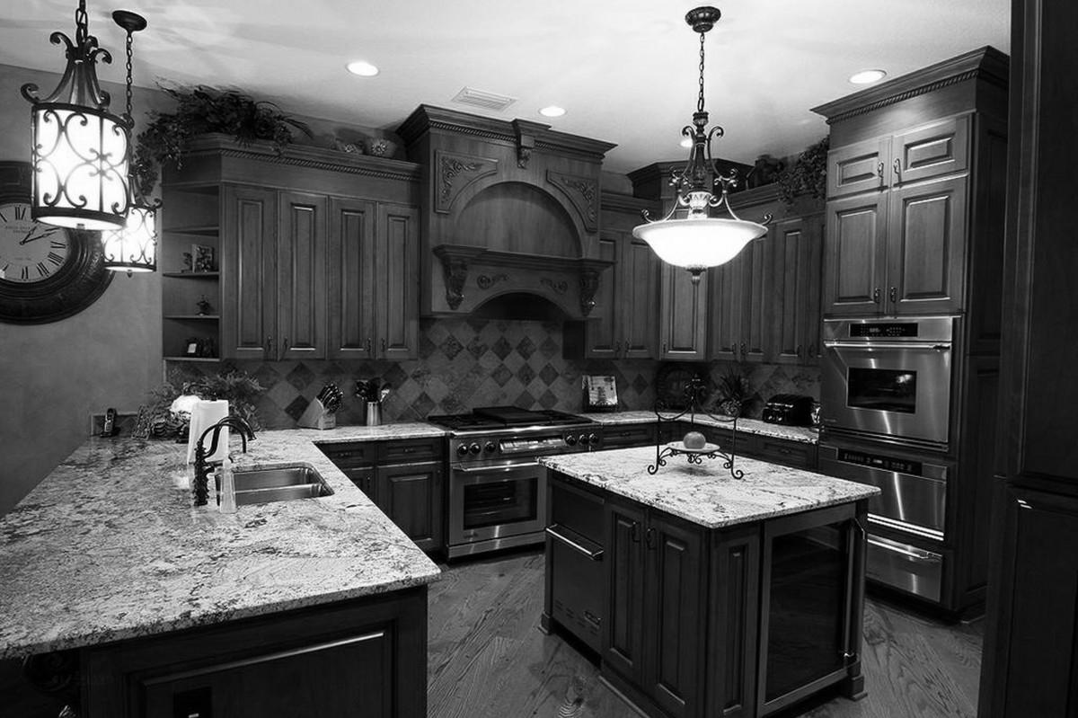 kitchen-appliance-packages-melbourne-decorative-pendant-light-marble-tile-kitchen-floor-rustic-style-kitchen-cabinet-marble-countertop-quartz-backsplash-tile-wall-ceiling-lamp-bronze