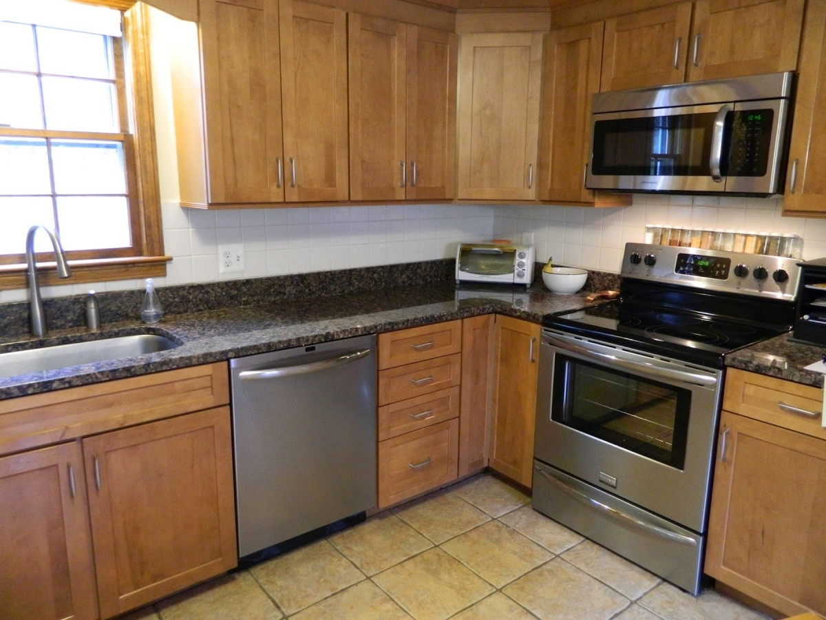 Kitchen Appliance Packages Uk Kitchen Cabinet Grey Marble Countertop Window Kitchen Sink Faucet Coffee Maker Mixer Toaster Oven Microwave Cooker Hob White Backsplash Glass Tile Wall (View 3 of 38)
