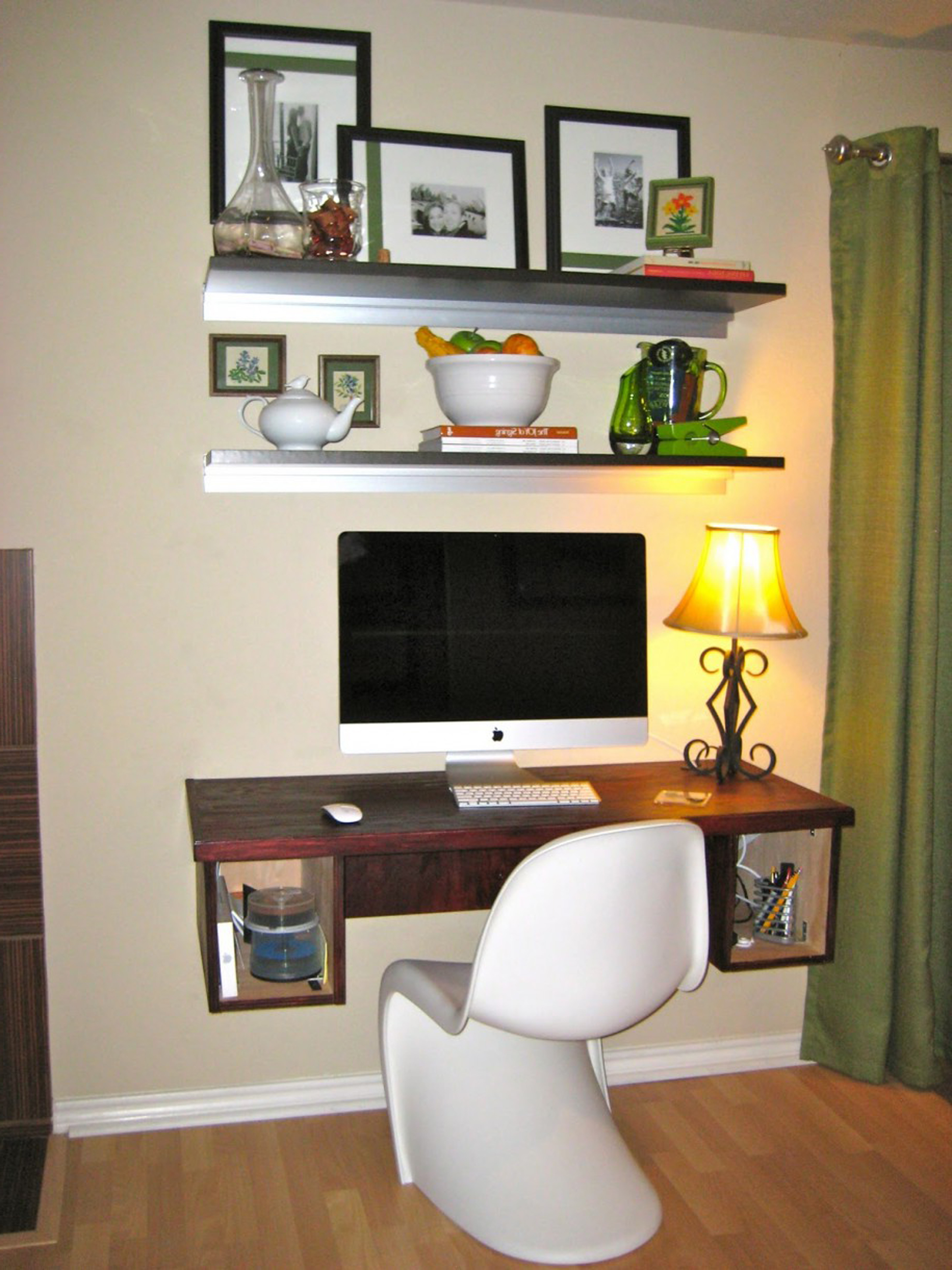 Minimalist Black Picture Frame Design Idea For Study Room With White Wall And Black Open Shelves Charming Picture Frame Design Ideas (Image 7 of 25)
