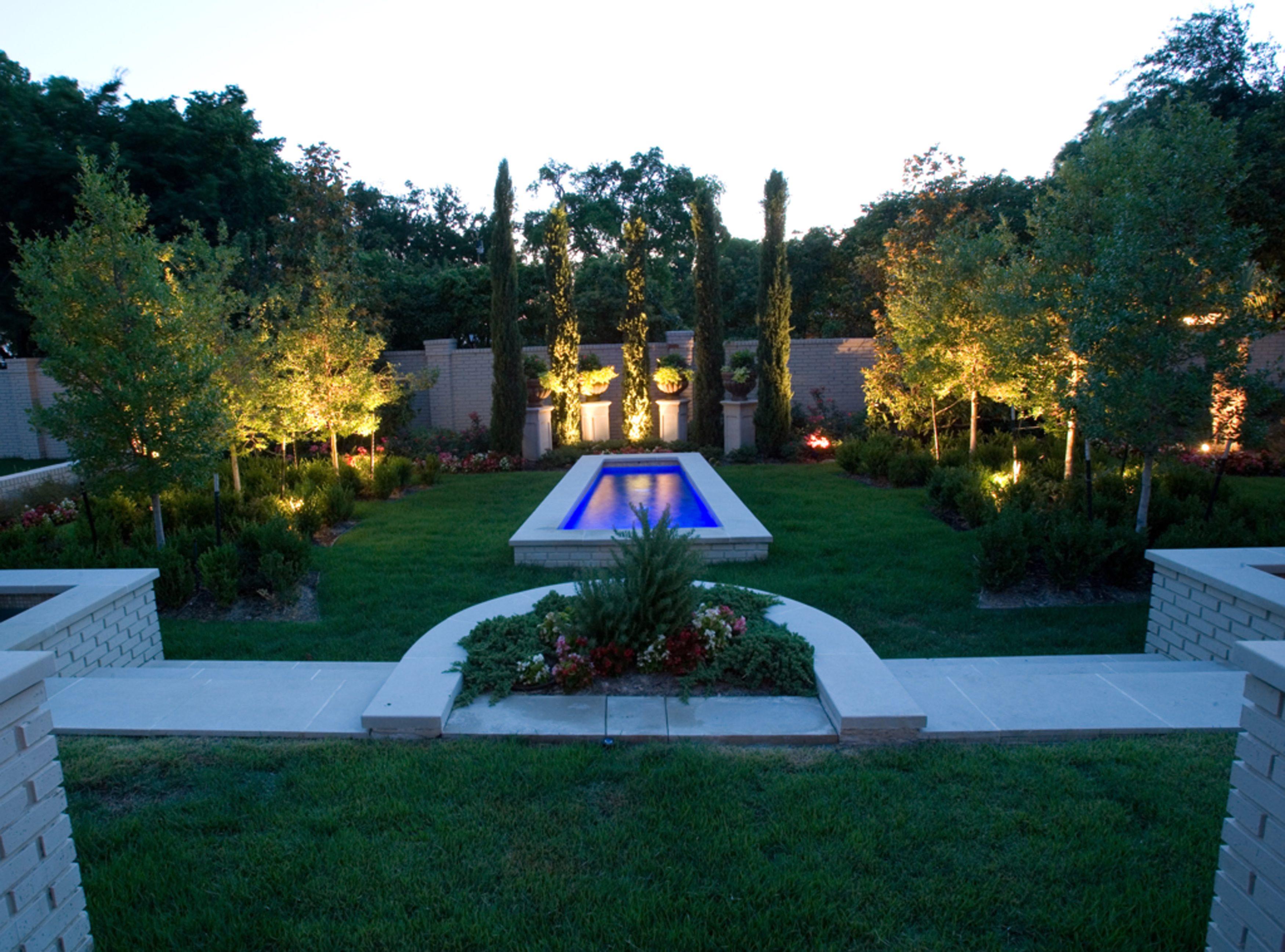 Minimalist For Tailor Your Lawn With A Stone Landscape Borders Lawn Connections Pool Area Lighting (Image 15 of 25)