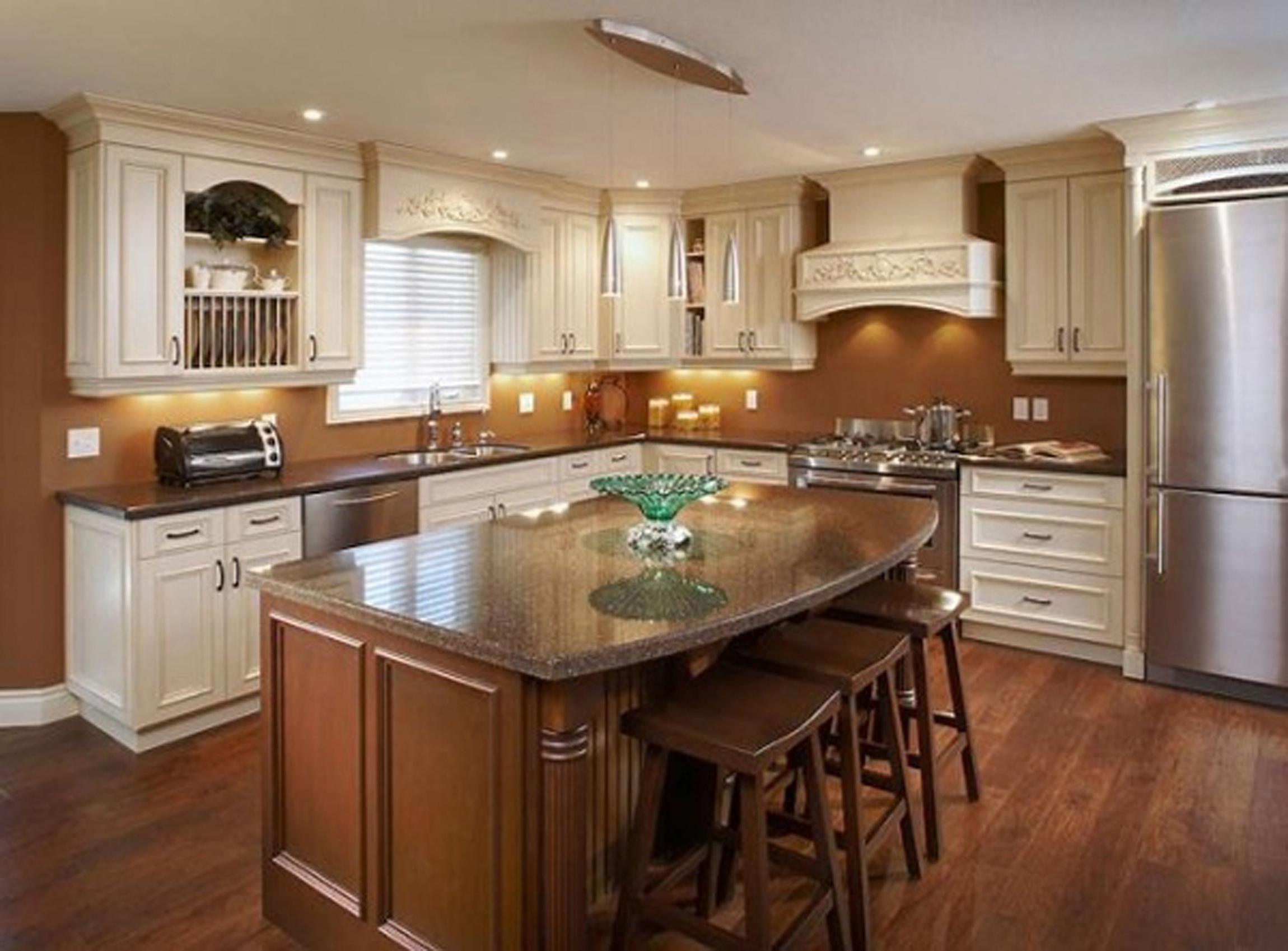 Modern Kitchen Cool Wooden Modern Kitchen Interior Design With Sweet Warm Lighting Idea Awesome Modern Kitchen Interior Design Inspiration (View 6 of 31)