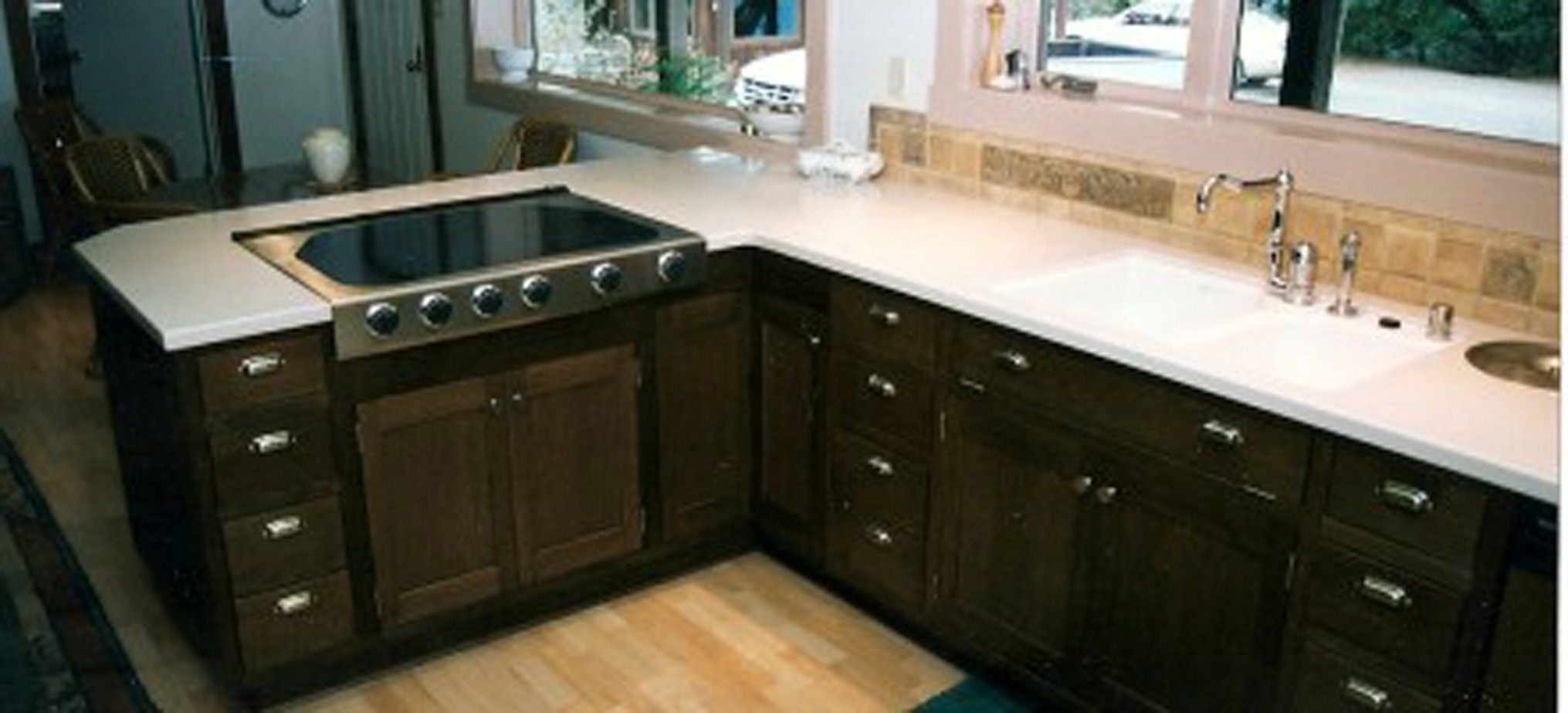 Modern Kitchen Furniture Design With Licious White Window And Nice Green Kitchen Rug Design (View 12 of 31)
