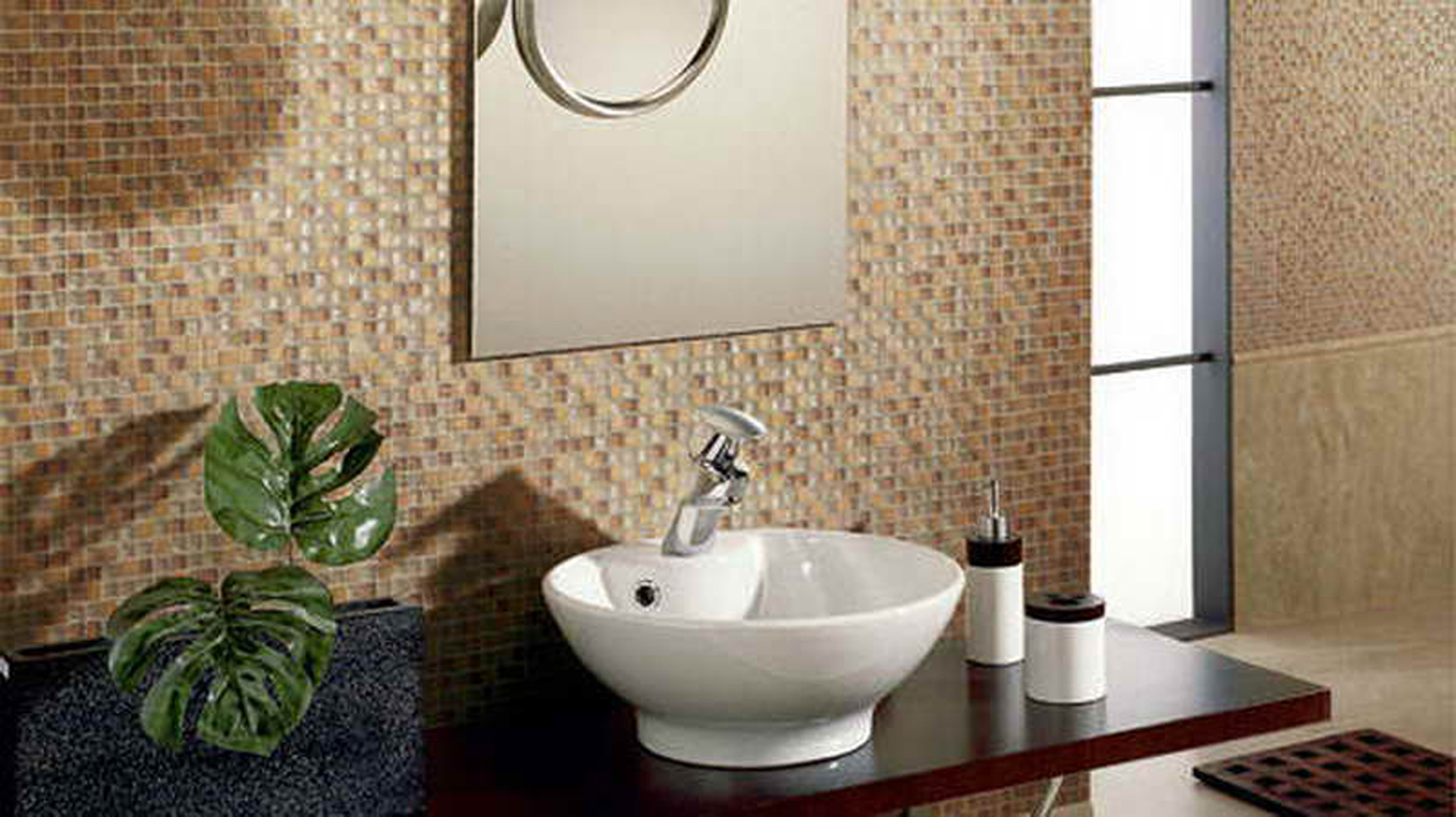 Bathroom flooring options to create fresh nuance custom home design - Small half bathroom tile ideas ...