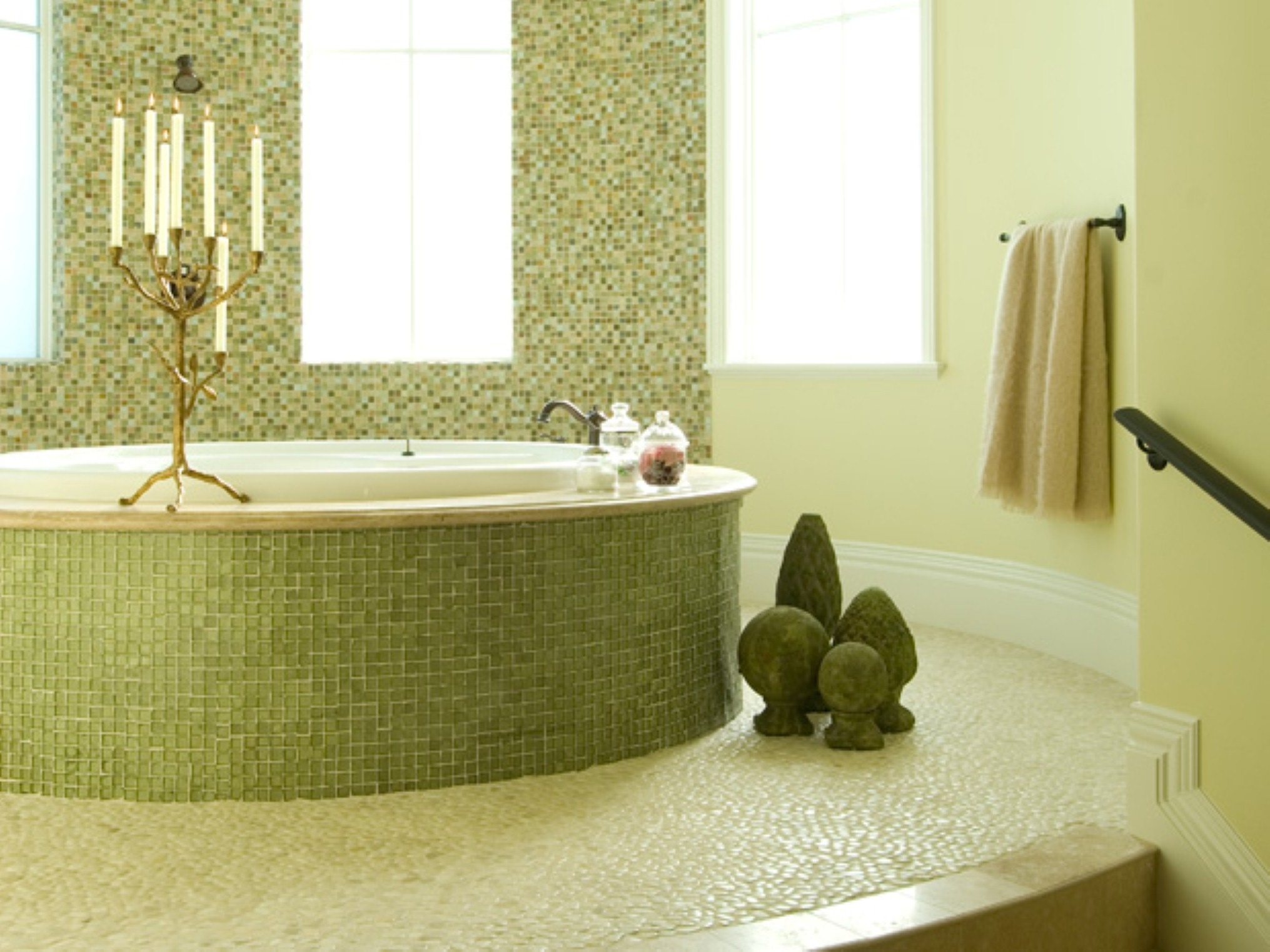 Bathroom flooring options to create fresh nuance custom for Smart bathroom designs