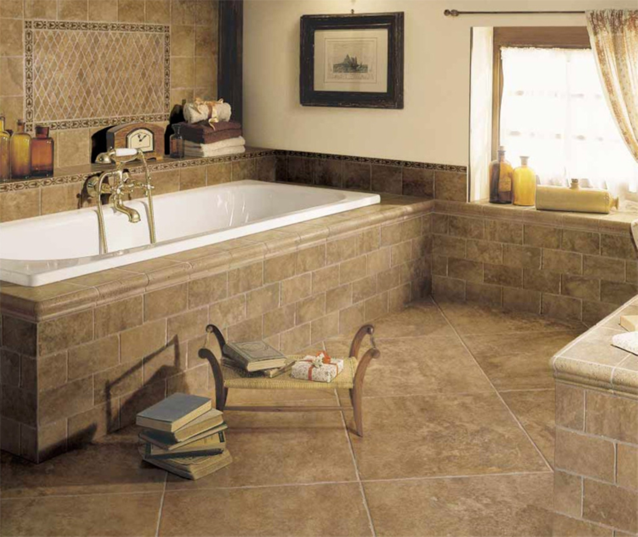 Stylish Bathroom Floor Tile Ideas With Fair Design Ideas Which Gives A Natural Sensation For Comfort Of Bathroom (View 15 of 23)