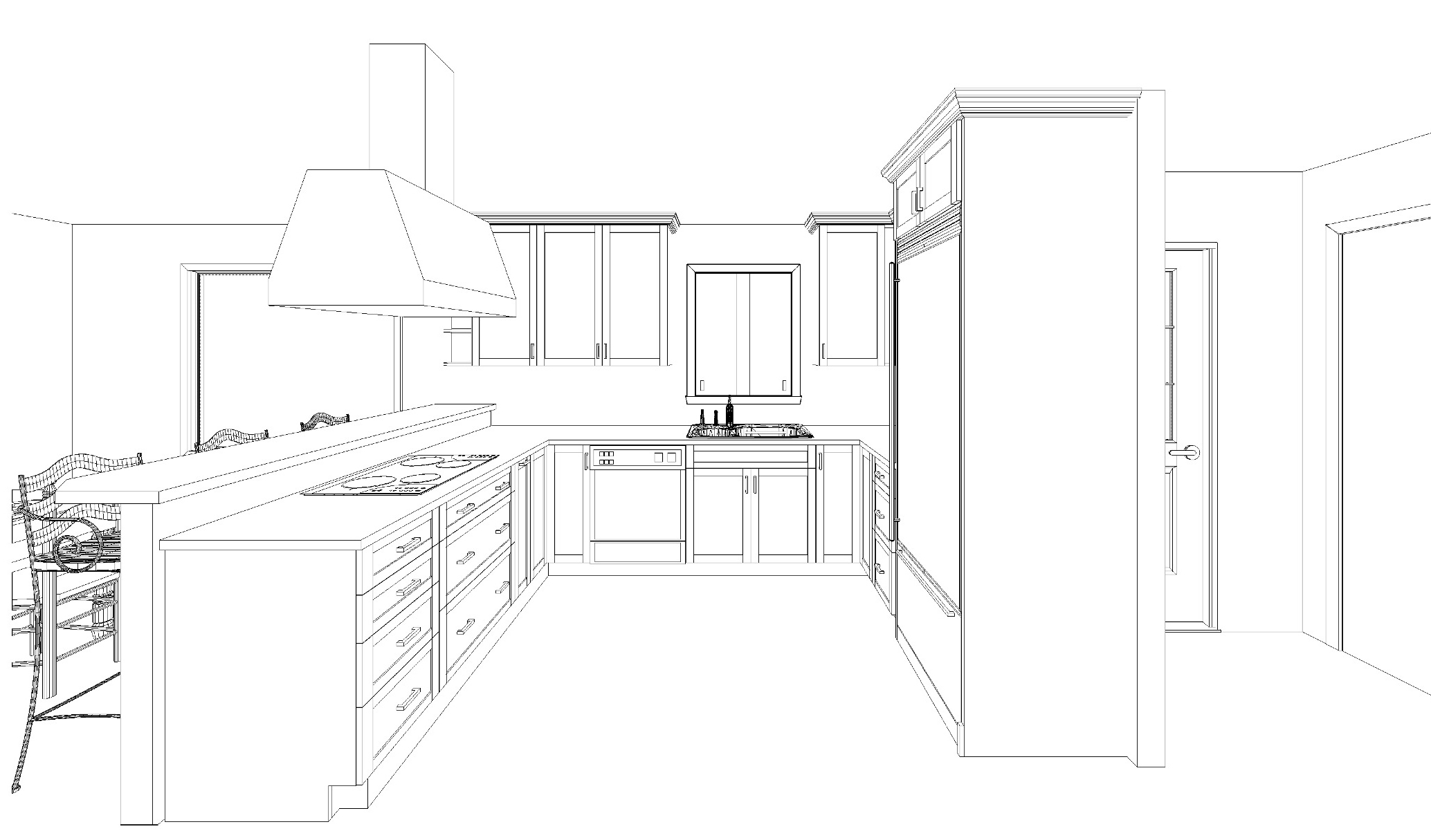 Kitchen Architecture Design Ideas Plan Contemporary Archicad Autocad Drawing Landscape Inspiration Kitchen How To Design Kitchen Layout From Blah Into Fantastic (Image 21 of 38)