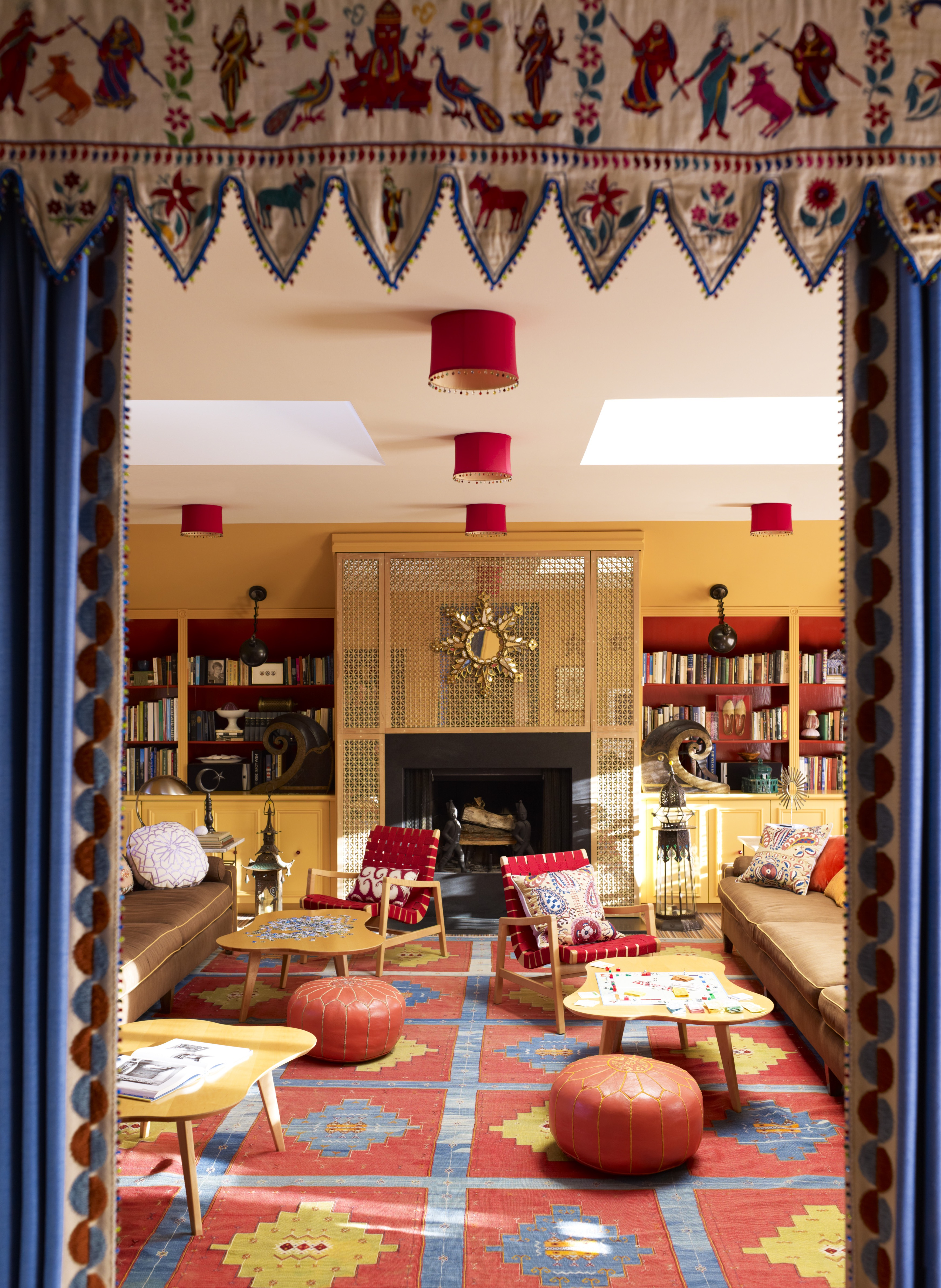 Eclectic Living Room With Moroccan Accents (View 4 of 25)