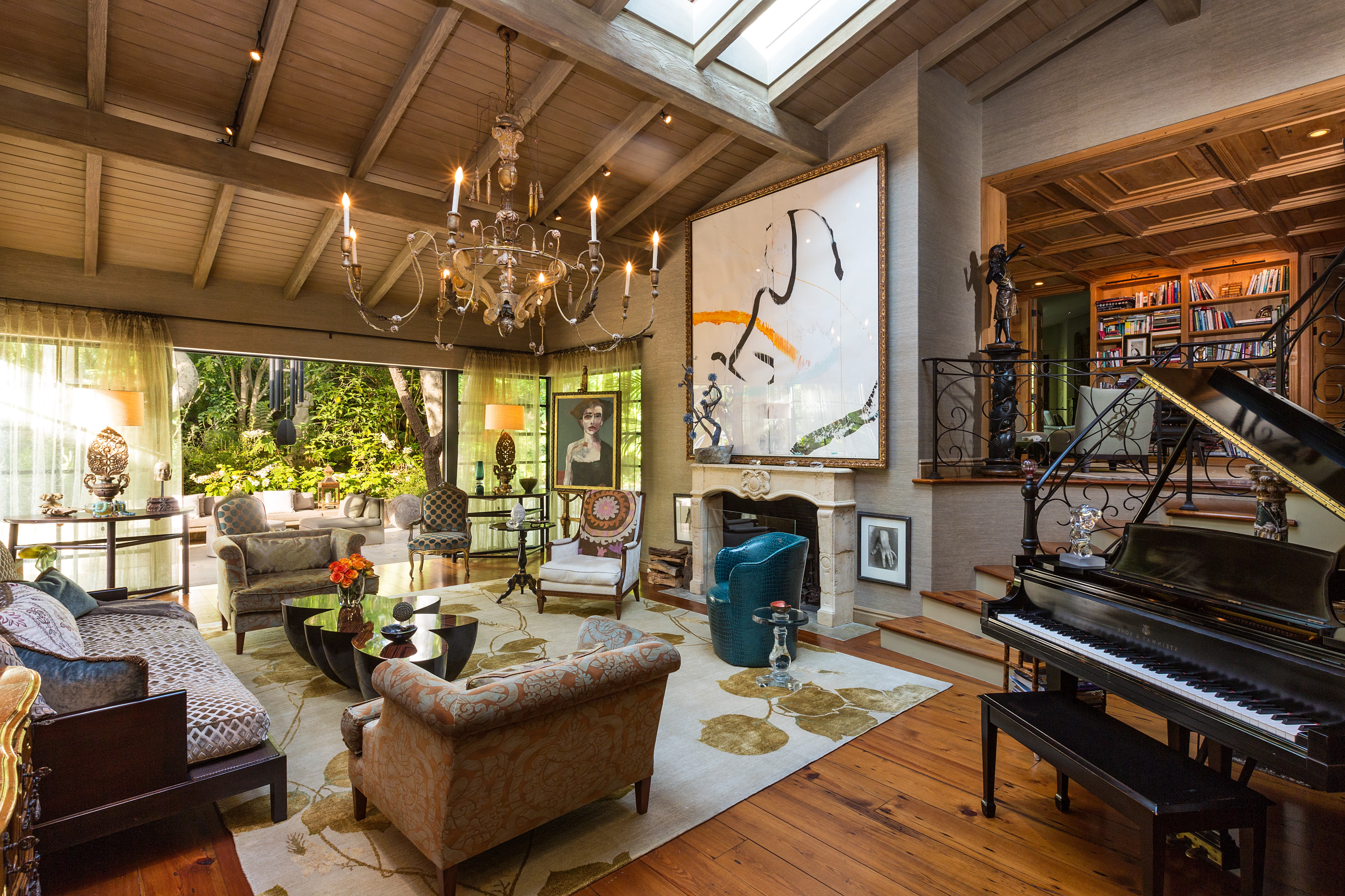 French Country Living Room With Retractable Doors (Image 13 of 18)