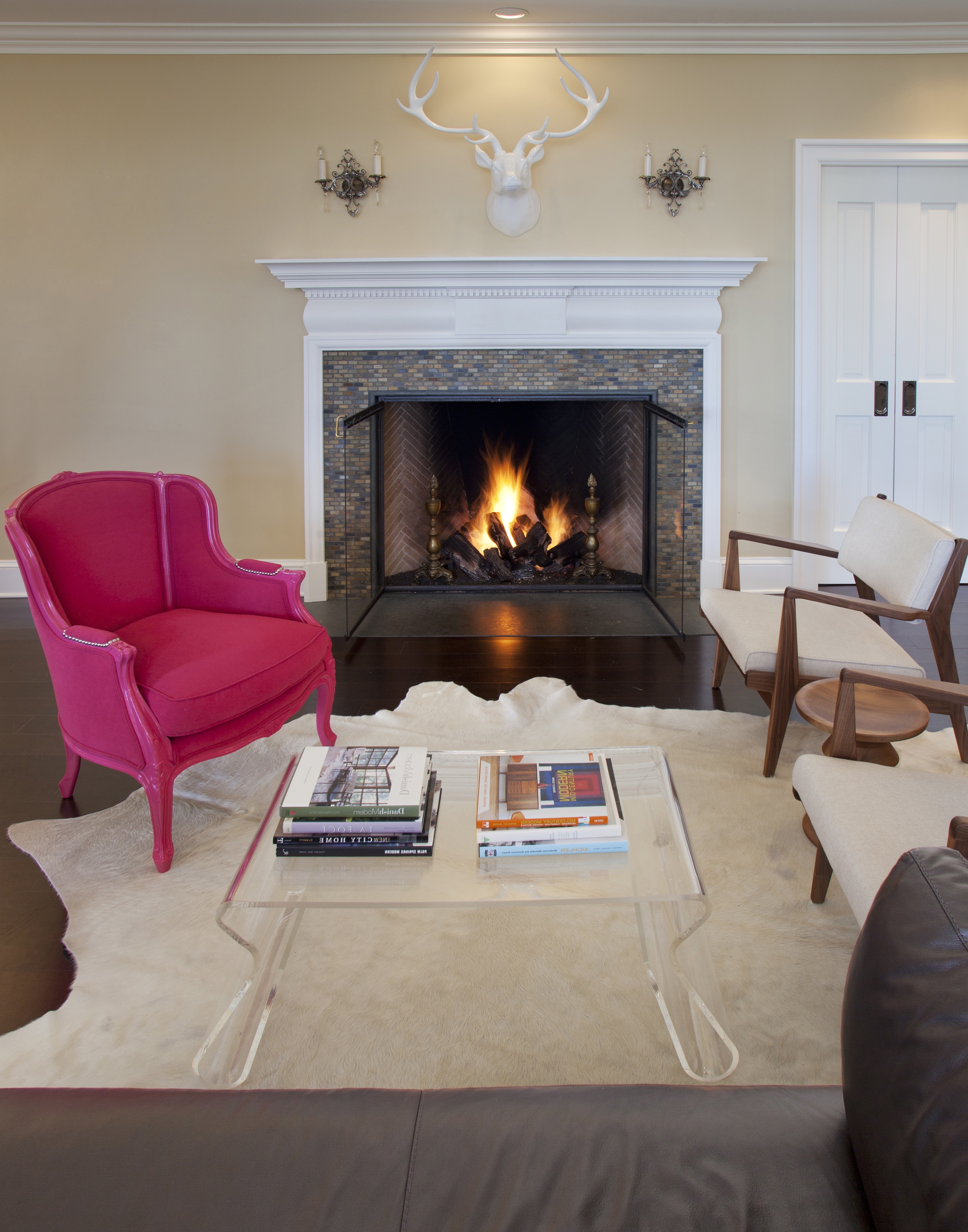 French Country Living Room With Bold Accents (Image 10 of 18)