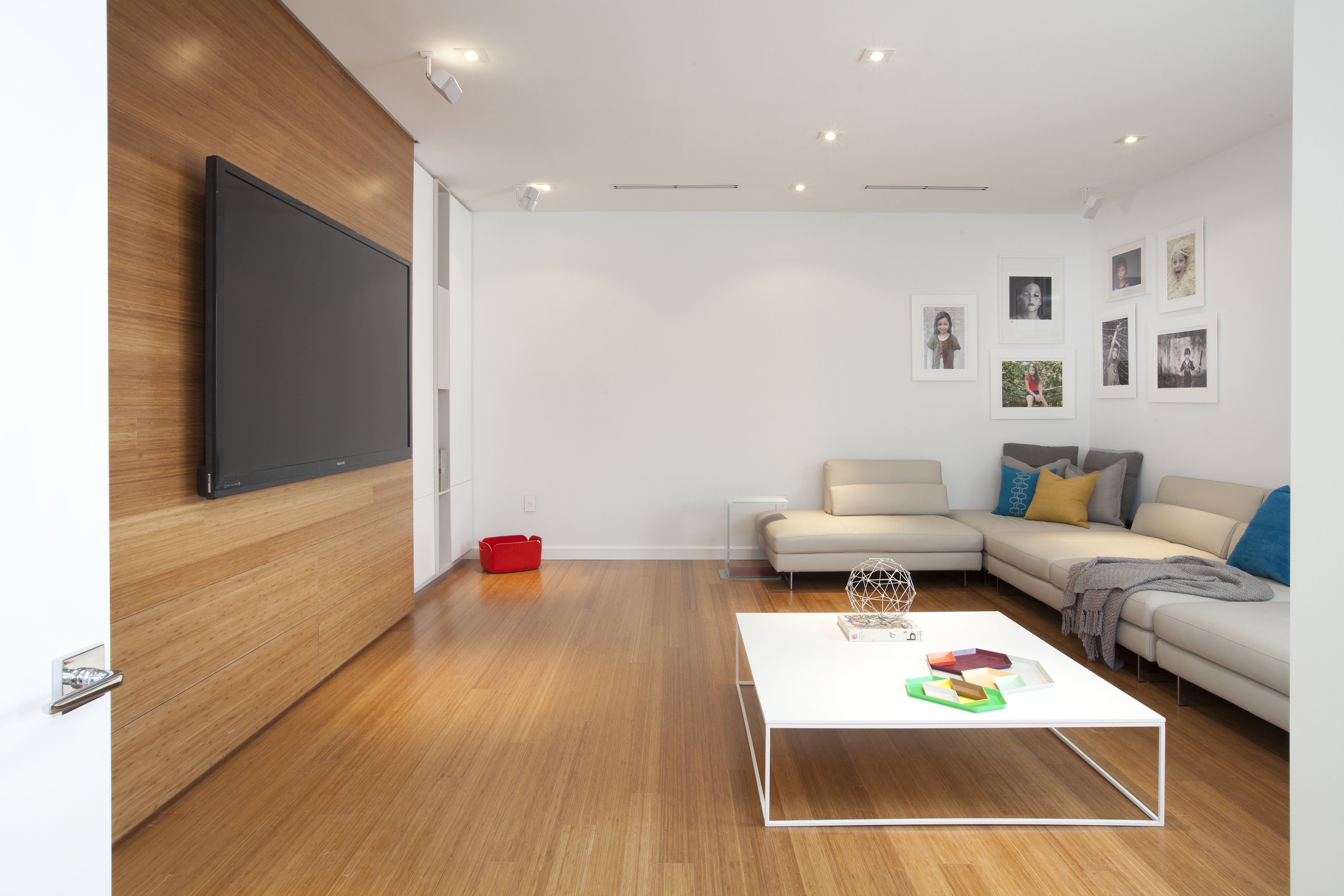 Gorgeous Bamboo Flooring In Modern Living Room (Image 3 of 15)