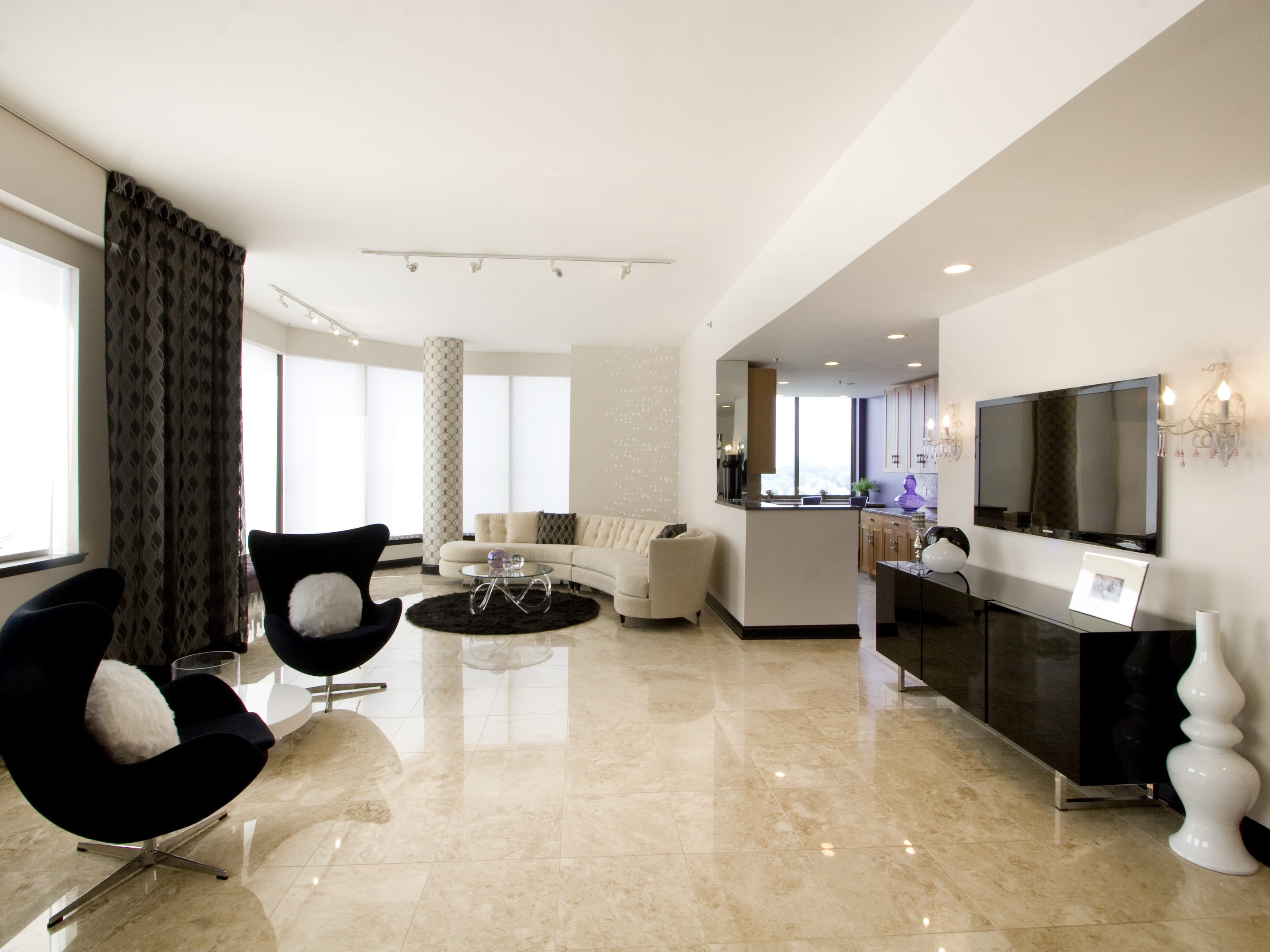 Living Room Marble Flooring For Luxury Nuance (Image 4 of 15)