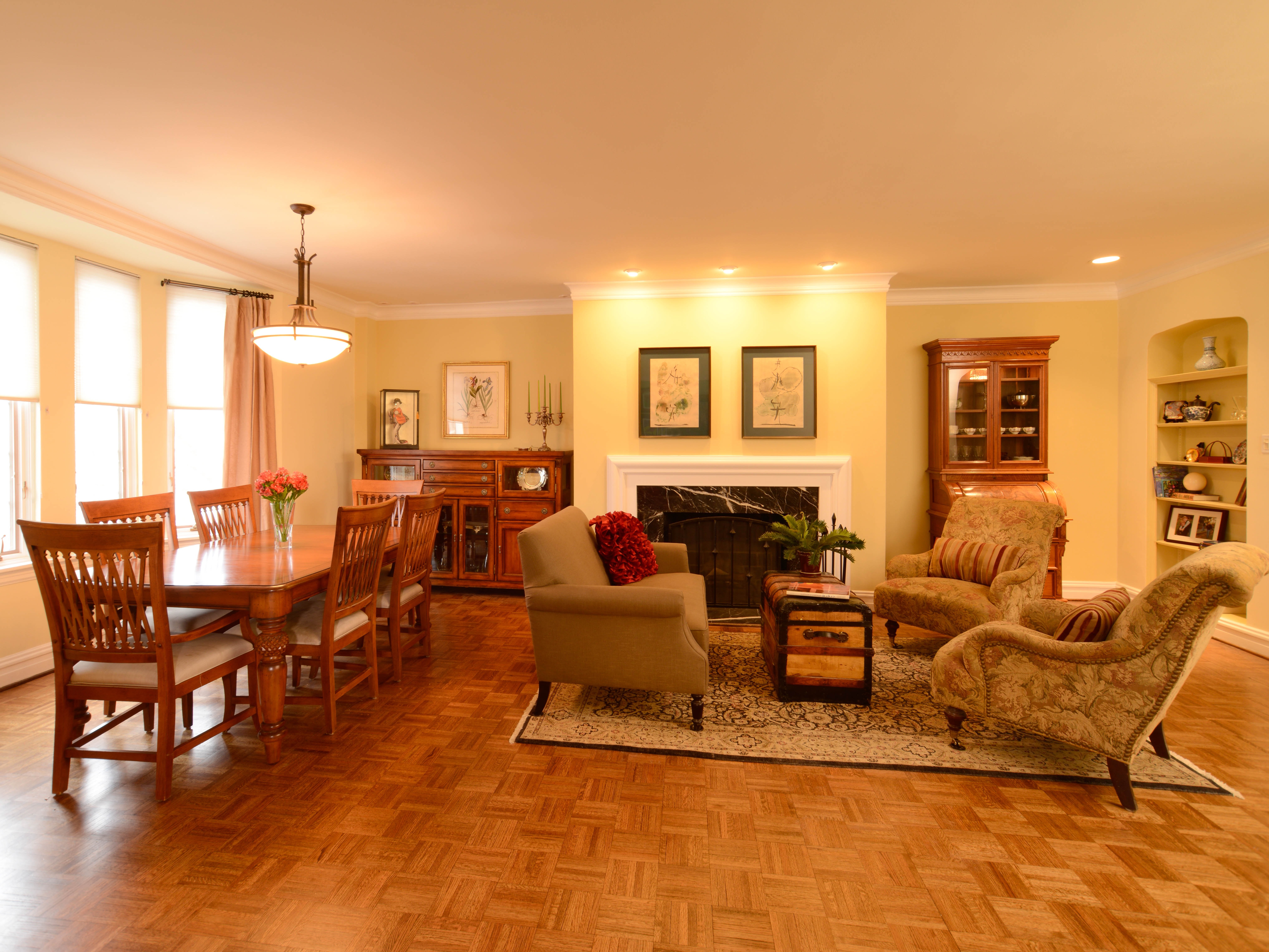 Parquet Flooring For Living And Dining Room Combo (View 7 of 15)