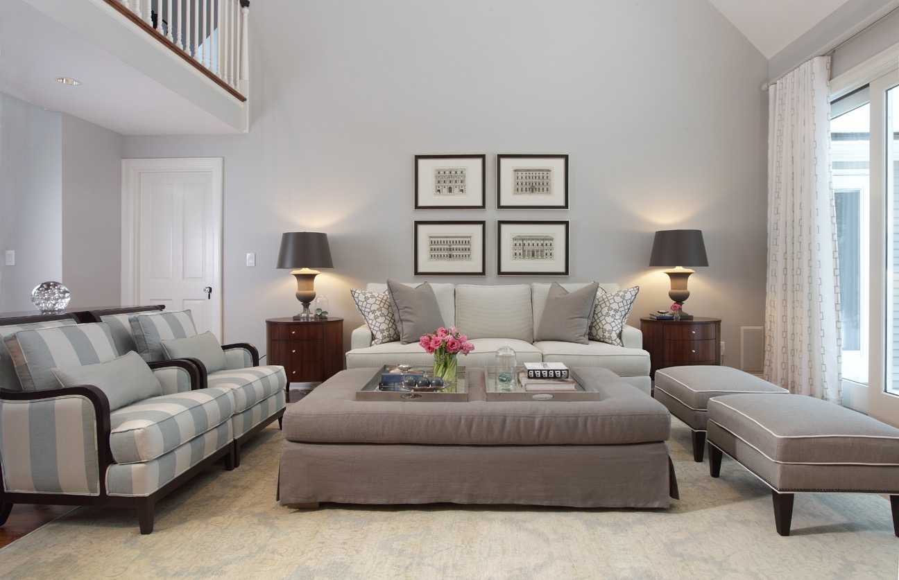 Stylish Gray Living Room With Carpet Floor (Image 11 of 15)