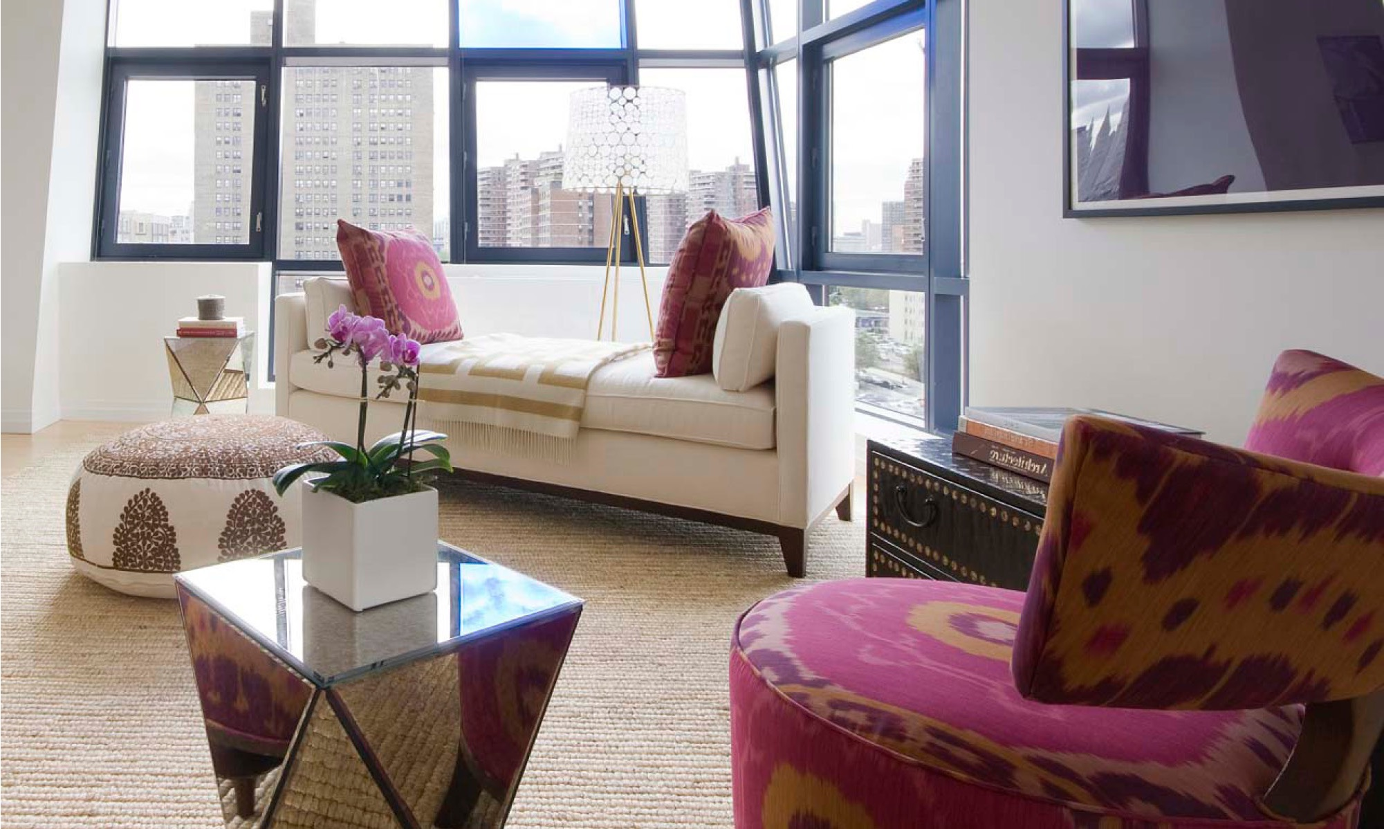 White Apartment Living Room With Moroccan Accents (View 11 of 25)