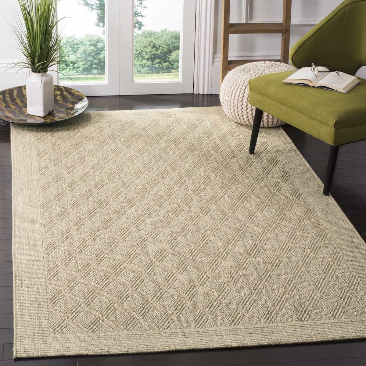 10 14 Neutral Brown Sisal Rug For Living Room Area Image 1 Of 15