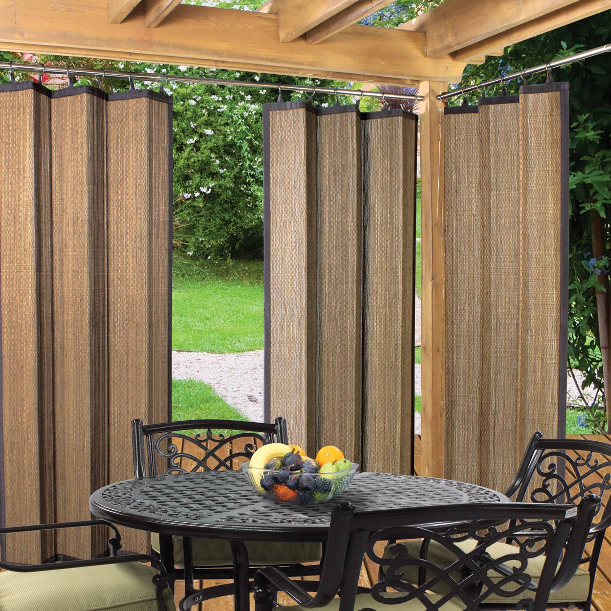 Bamboo Curtain For Patio (Image 2 of 20)